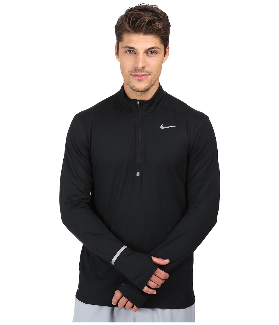 Nike - Dry Element Long Sleeve Running Top (Black/Reflective Silver) Men's Long Sleeve Pullover