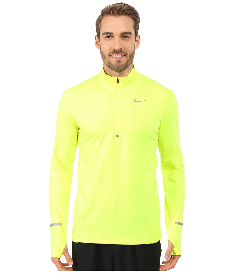 Nike - Dri-Fit Element Half-Zip Pullover (Volt/Reflective Silver) Men