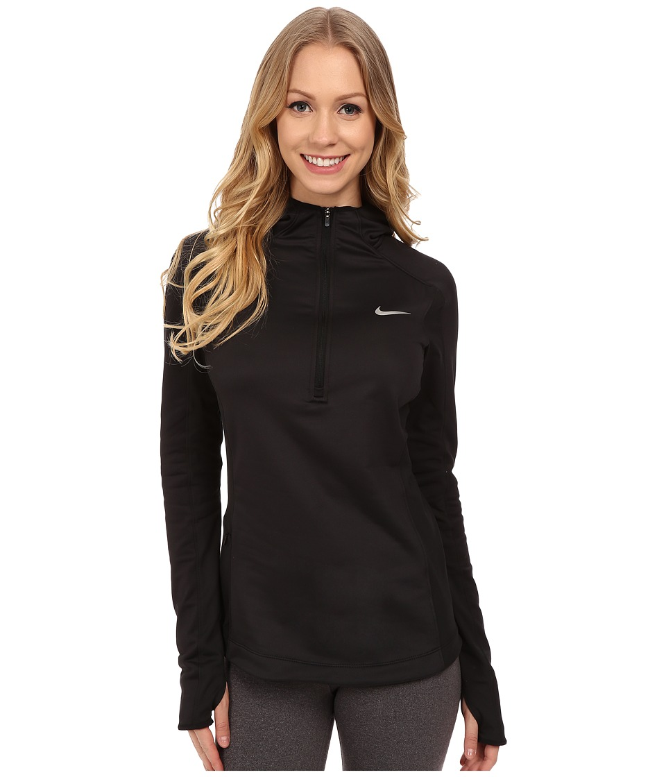 Nike - Dri-FIT Thermal Hoodie (Black/Black/Reflective Silver) Women's Long Sleeve Pullover