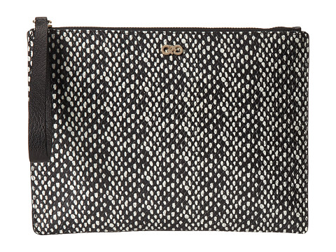 Cole Haan - Reddington Medium Pouch (Black/Snake Print) Handbags