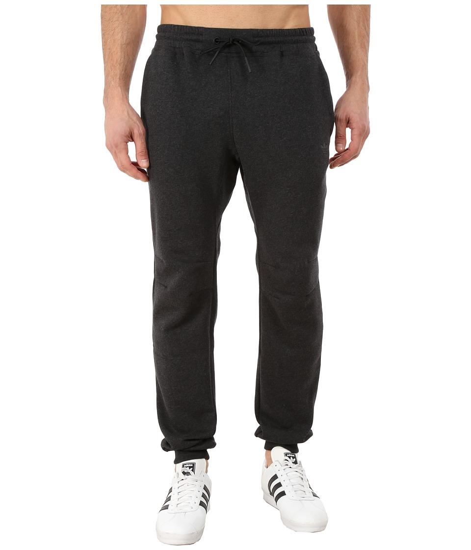 adidas Originals - Sport Luxe Cuff Fleece Pant (Black/Melange/Dark Grey Heather/Black) Men