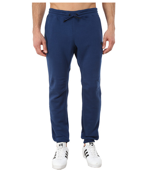 adidas Originals - Sport Luxe Cuff Fleece Pant (Oxford Blue/Oxford Blue/Black) Men