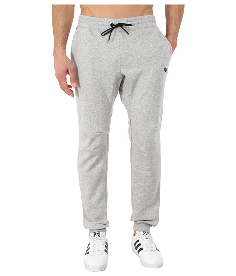 adidas Originals - Sport Luxe Cuff Fleece Pant (Medium Grey Heather/Medium Grey Heather/Black) Men's Casual Pants