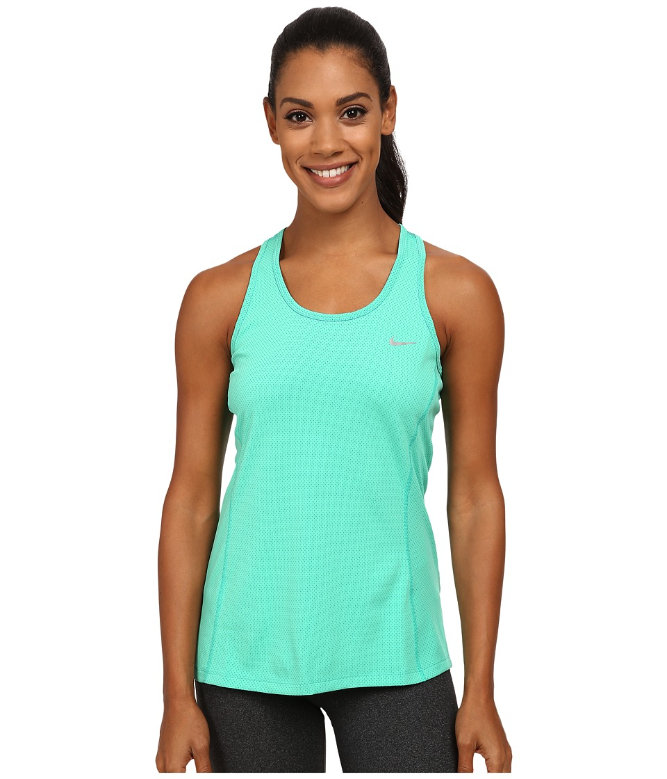 Nike - Dri-FIT Contour Tank Top (Emerald Glow/Reflective Silver) Women
