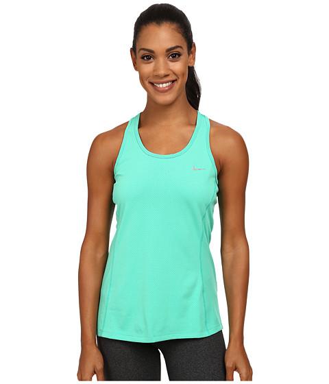 Nike - Dri-FIT Contour Tank Top (Emerald Glow/Reflective Silver) Women