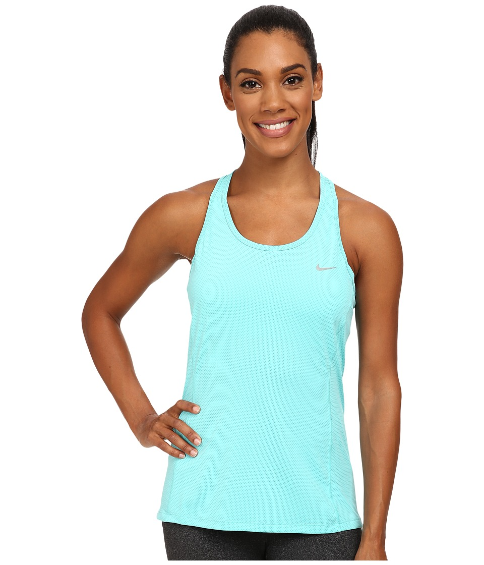 Nike - Dri-FIT Contour Tank Top (Light Aqua/Reflective Silver) Women's Sleeveless