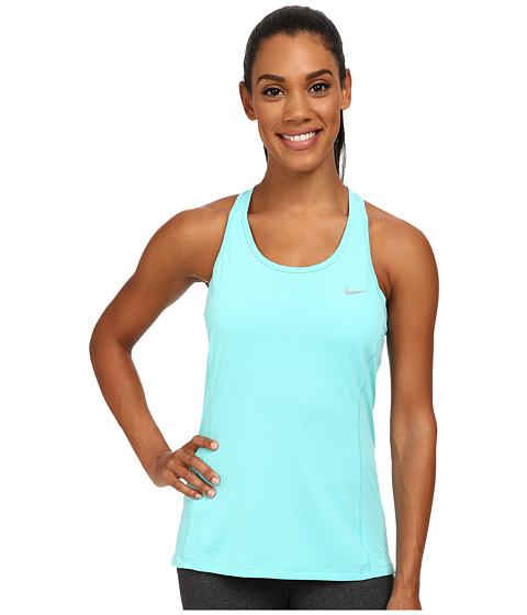 Nike - Dri-FIT Contour Tank Top (Light Aqua/Reflective Silver) Women