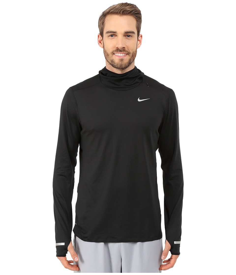 Nike - Dri-Fit Element Hoodie (Black/Reflective Silver) Men