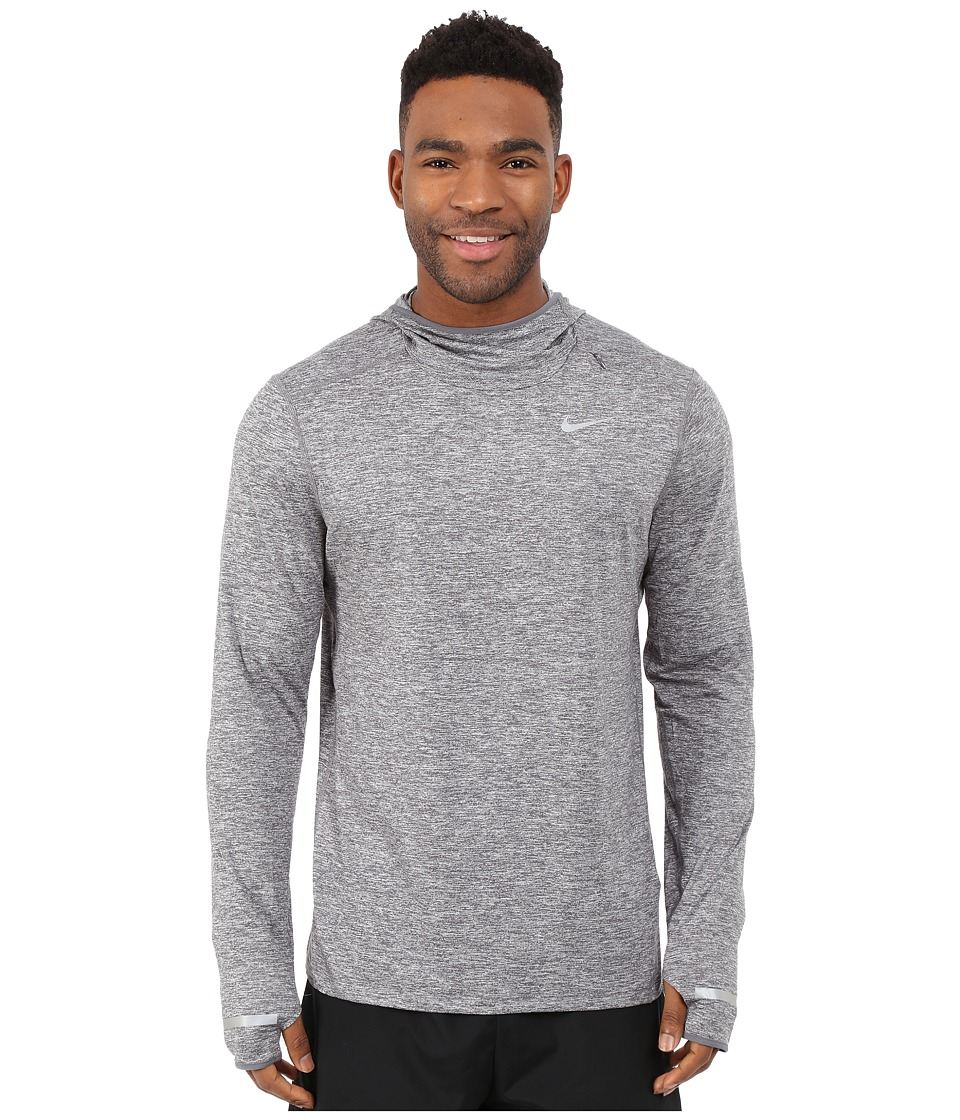 Nike - Dri-Fit Element Hoodie (Dark Grey/Heather/Reflective Silver) Men's Sweatshirt