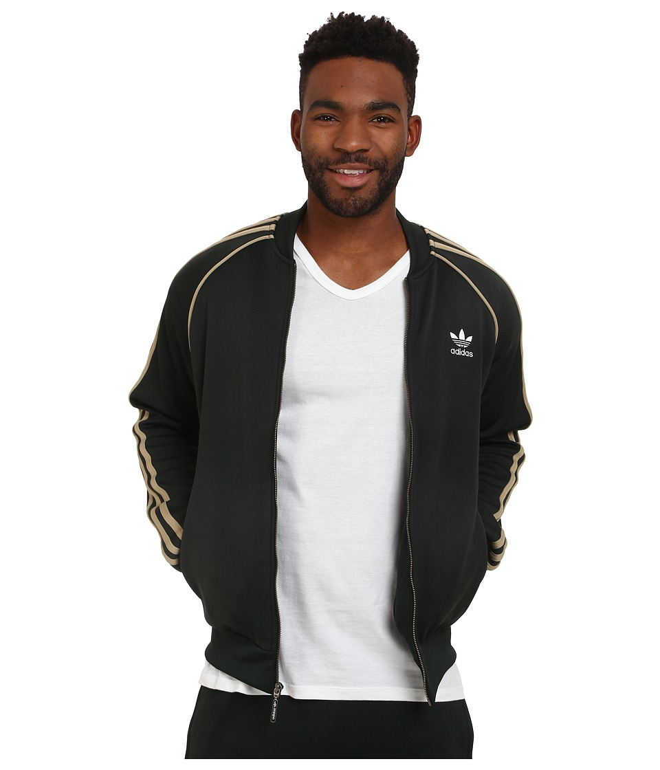 adidas Originals - Superstar Track Top (Jungle Ink/Hemp) Men's Long Sleeve Pullover
