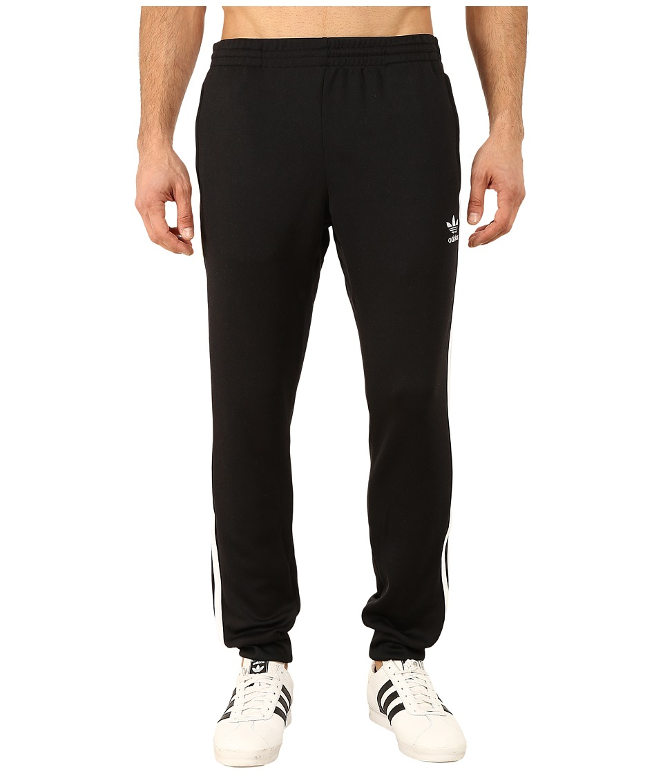 adidas Originals - Superstar Cuffed Track Pants (Black/White) Men's Casual Pants