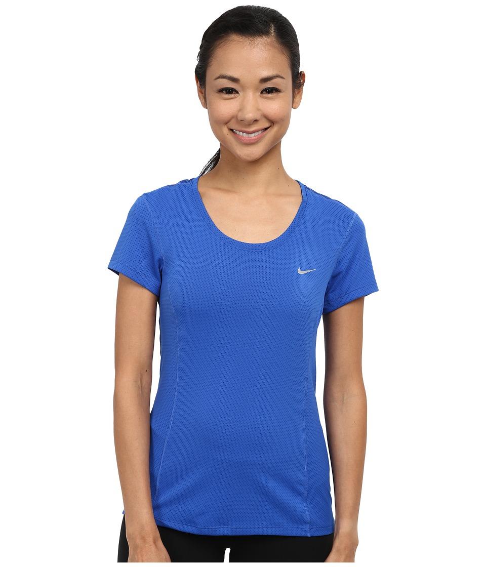 nike shox de femmes à bas prix - UPC 826216460861 - Nike - Dri-FIT Contour Short Sleeve (Game Royal ...