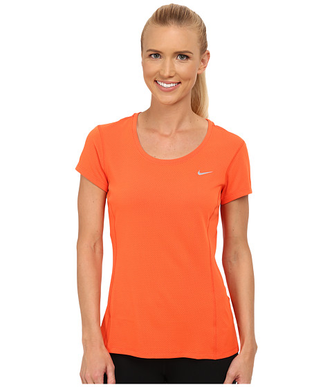 Nike - Dri-FIT Contour Short Sleeve (Electro Orange/Reflective Silver) Women