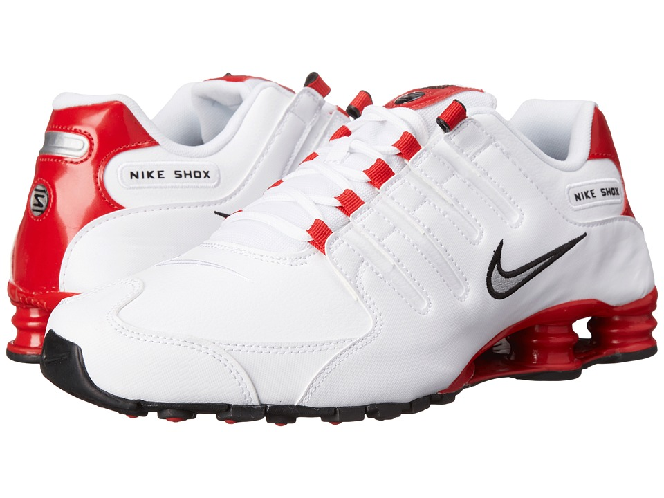 Nike - Shox NZ (White/University Red/Black/Metallic Silver) Men's Shoes