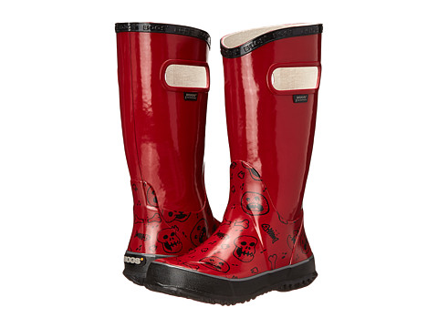 Bogs Kids - Rain Boot Bones (Toddler/Little Kid/Big Kid) (Red Multi) Boys Shoes