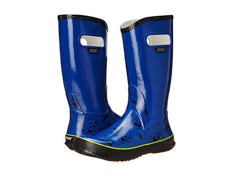 Bogs Kids - Rain Boot Bones (Toddler/Little Kid/Big Kid) (Royal Multi) Boys Shoes