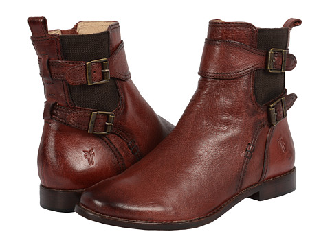 Frye - Anna Gore Short (Burnt Red Buffalo Leather) Cowboy Boots