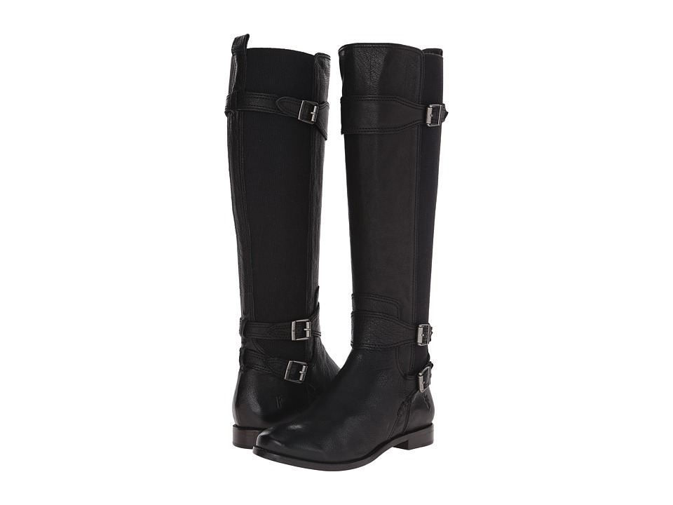 Frye - Anna Gore Tall (Black Buffalo Leather) Cowboy Boots