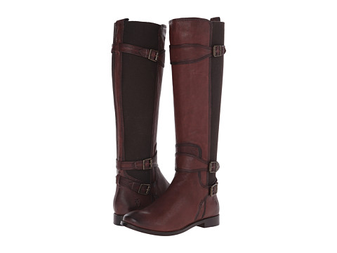 Frye - Anna Gore Tall (Chocolate Buffalo Leather) Cowboy Boots