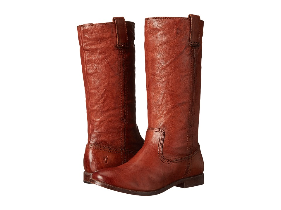 Frye - Anna Mid Pull On (Cognac Antique Soft Vintage) Cowboy Boots