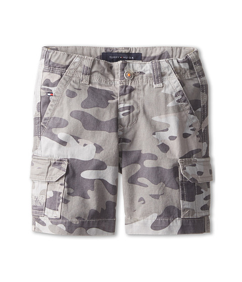 Tommy Hilfiger Kids - Camo Cargo Twill Shorts (Toddler/Little Kids) (Ash Grey) Boy