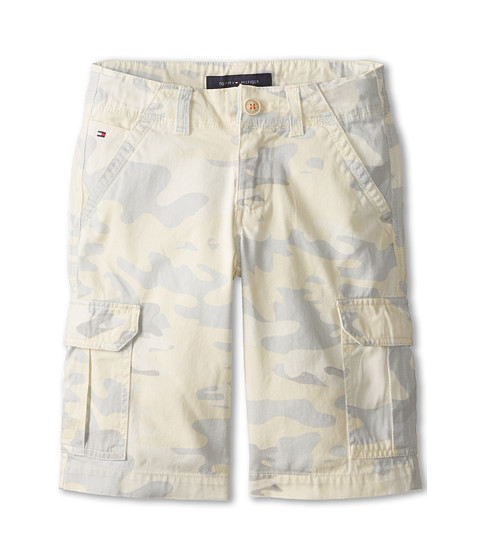 Tommy Hilfiger Kids - Camo Cargo Twill Shorts (Toddler/Little Kids) (Seed Pearl) Boy