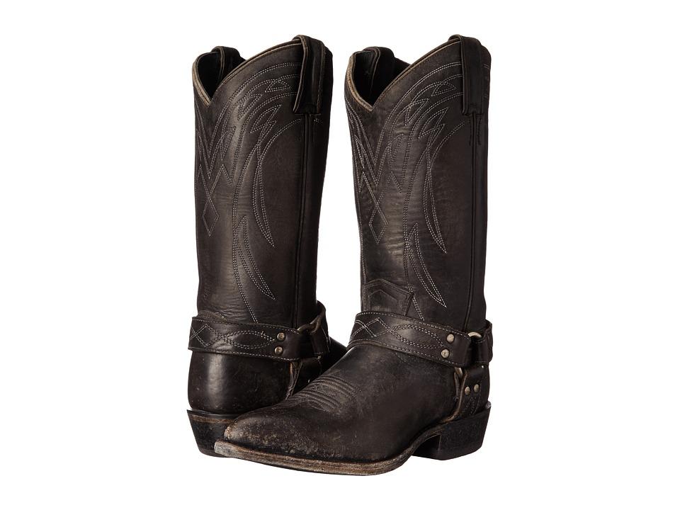 Frye - Billy Harness (Black Smooth Stonewash) Cowboy Boots