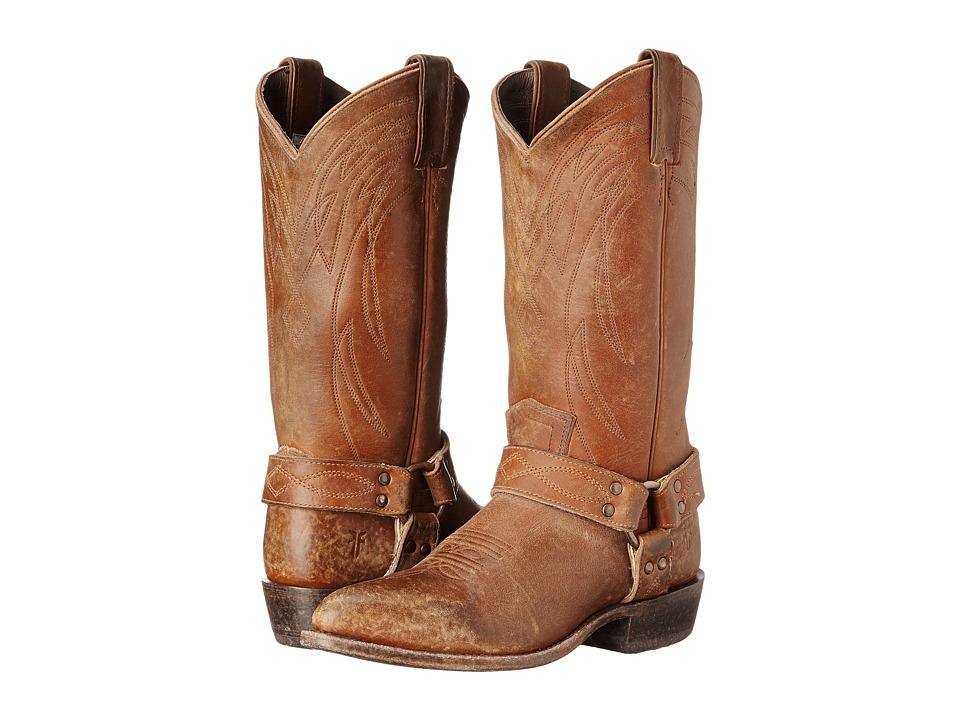 Frye - Billy Harness (Whiskey Smooth Stonewash) Cowboy Boots