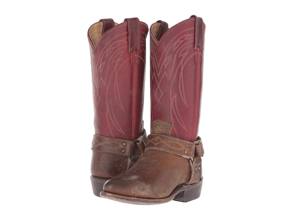 Frye - Billy Harness (Burgundy Multi Smooth Full Grain/Smooth Pull Up) Cowboy Boots