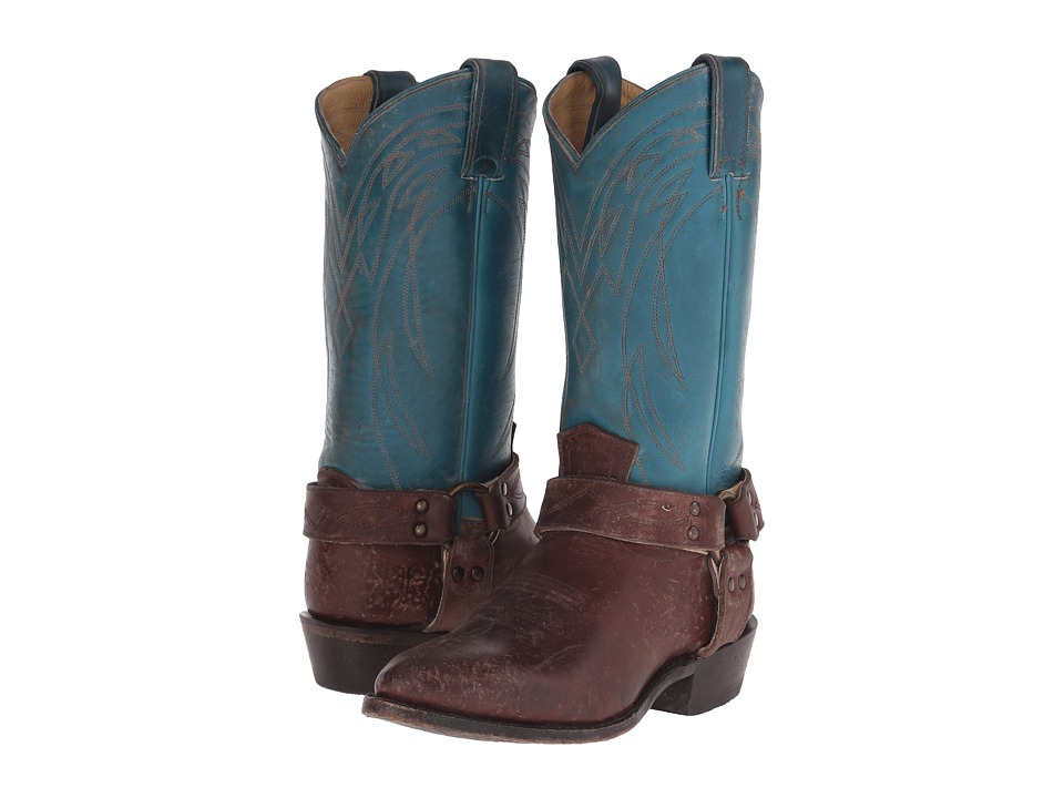 Frye Billy Harness (Turquoise Multi Smooth Full Grain/Smooth Pull Up) Cowboy Boots
