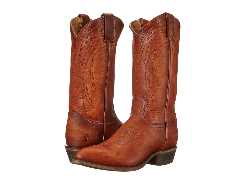 Frye - Billy Pull On (Cognac Washed Oiled Vintage) Cowboy Boots
