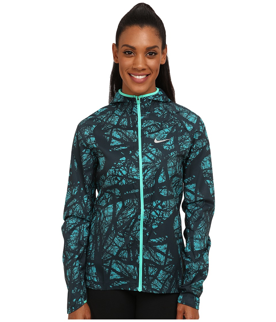 Nike - Enchanted Impossible Light Jacket (Radiant Emerald/Emerald Glow/Reflective Silver) Women's Jacket