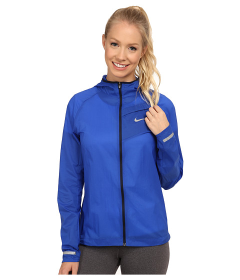 Nike - Impossibly Light Jacket (Game Royal/Obsidian/Reflective Silver) Women's Coat