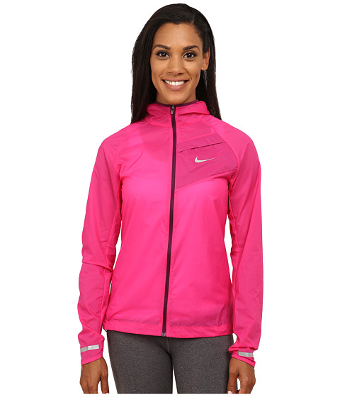 Nike - Impossibly Light Jacket (Vivid Pink/Mulberry/Reflective Silver) Women's Coat
