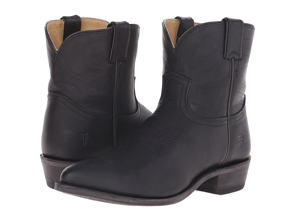 Frye - Billy Short (Black Washed Oiled Vintage) Cowboy Boots