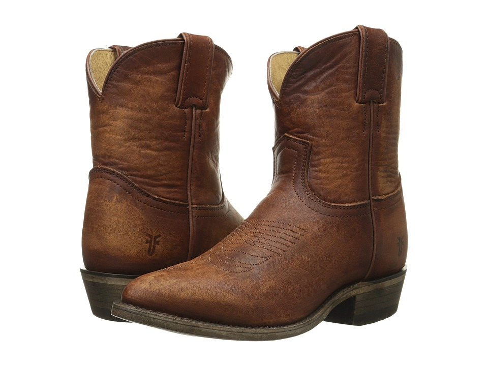 Frye Billy Short Cognac Washed Oiled Vintage Cowboy Boots