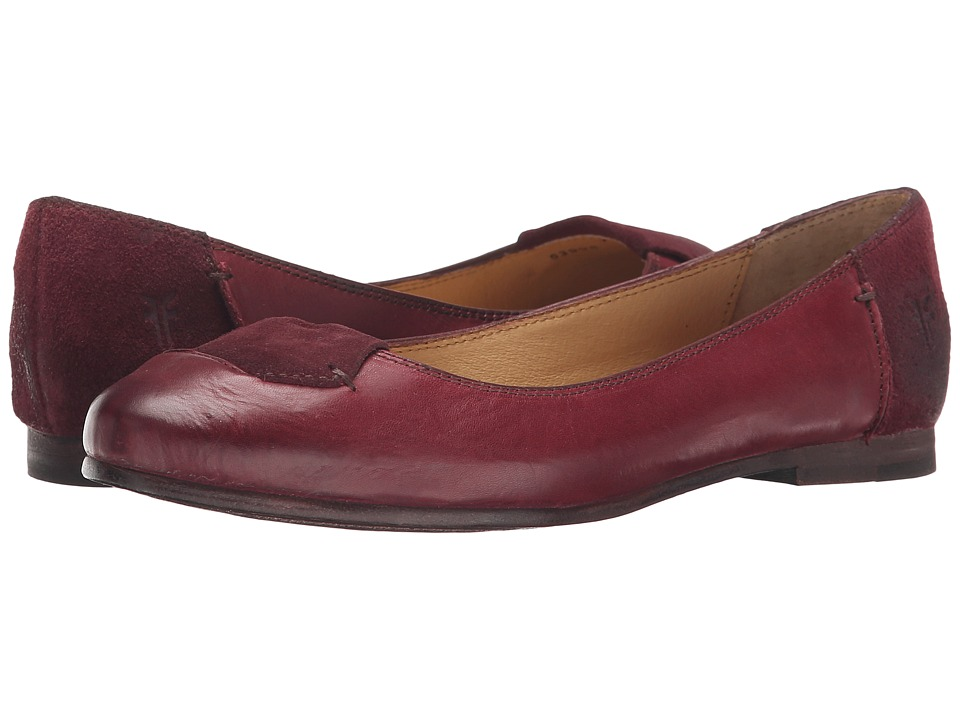 Frye - Carson Tab Ballet (Bordeaux Smooth Vintage Leather/Oiled Suede) Women