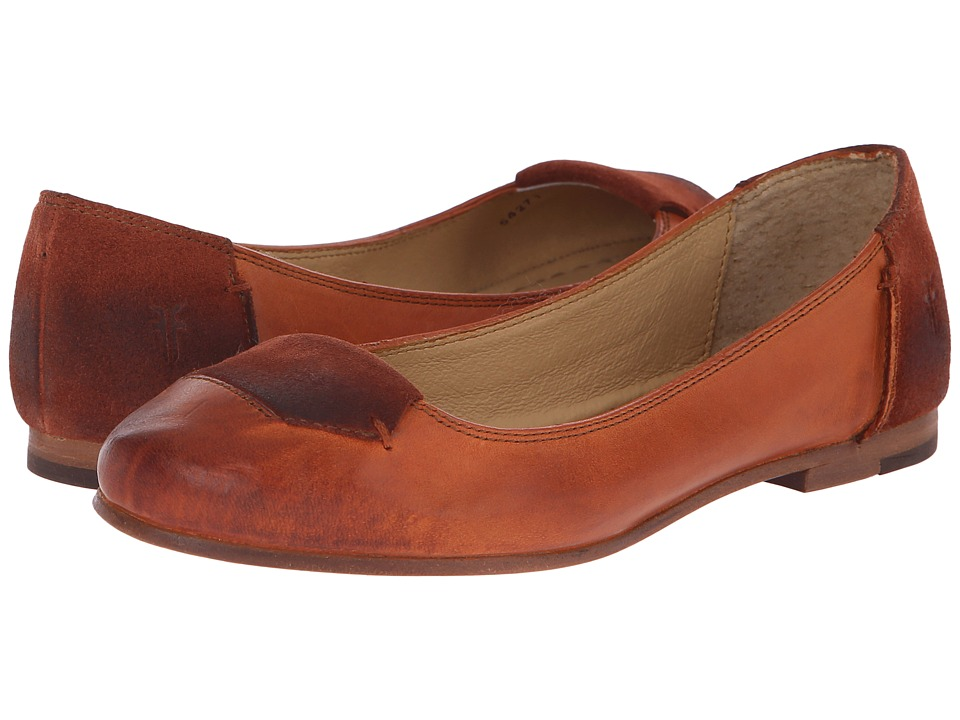Frye - Carson Tab Ballet (Whiskey Smooth Vintage Leather/Oiled Suede) Women