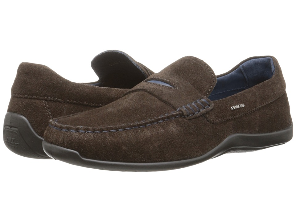 Geox - U Xense Mox 5 (Dark Coffee) Men's Moccasin Shoes
