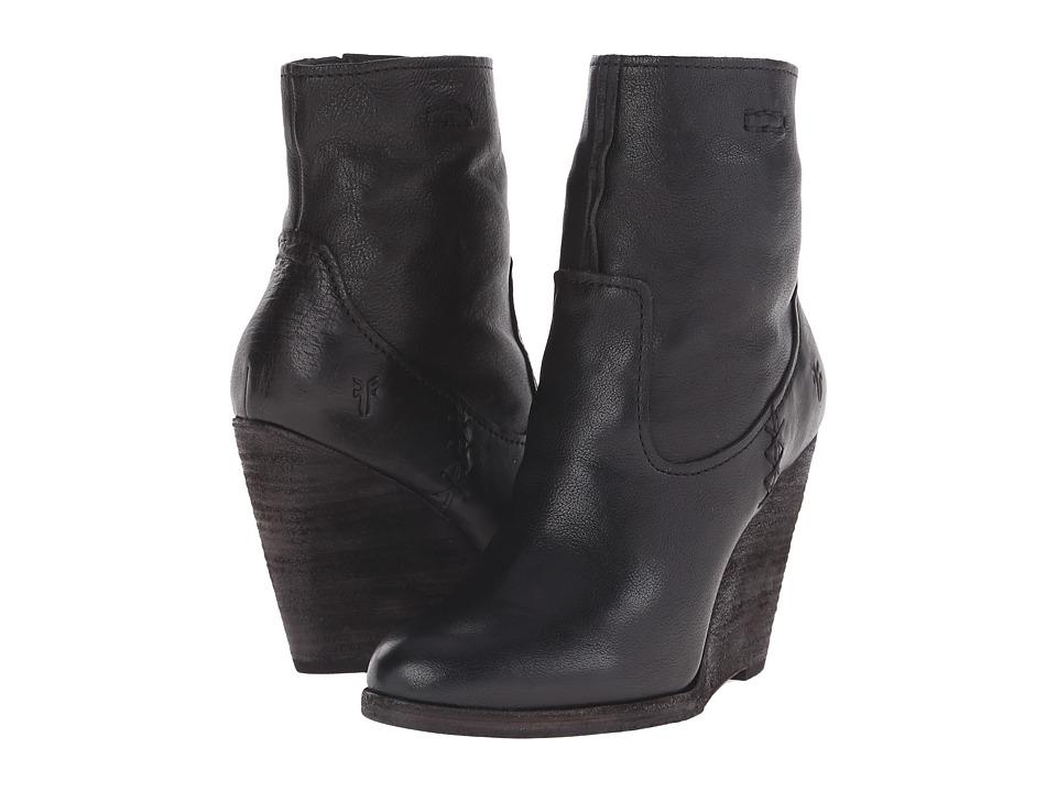 Frye - Cece Artisan Short (Black Washed Vintage) Cowboy Boots