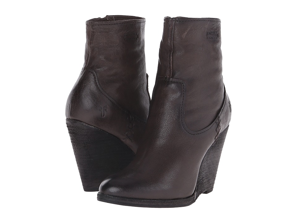 Frye - Cece Artisan Short (Charcoal Washed Vintage) Cowboy Boots