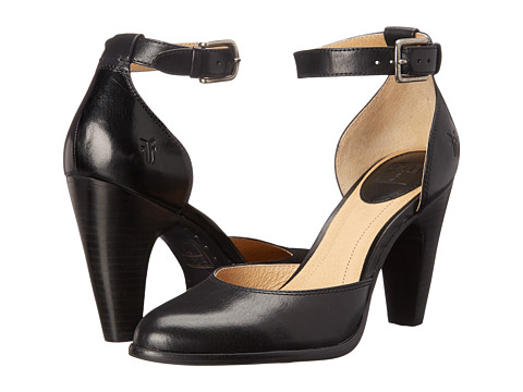 Frye - Celeste Two Piece (Black Smooth Polished Veg) High Heels