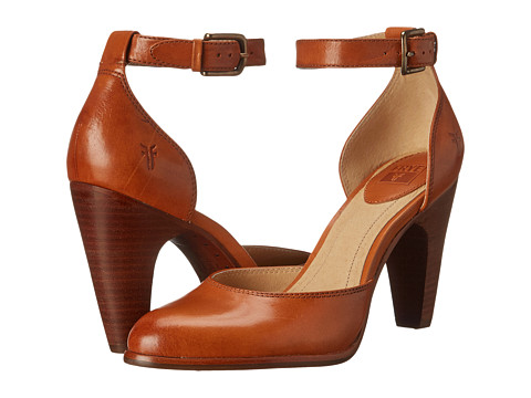 Frye - Celeste Two Piece (Tan Smooth Polished Veg) High Heels
