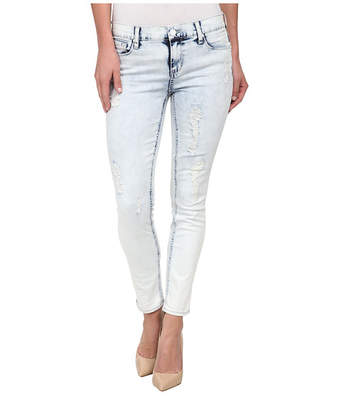 DKNY Jeans - Ave B Ultra Skinny Rip and Repair Crop in Sky Wash (Sky Wash) Women