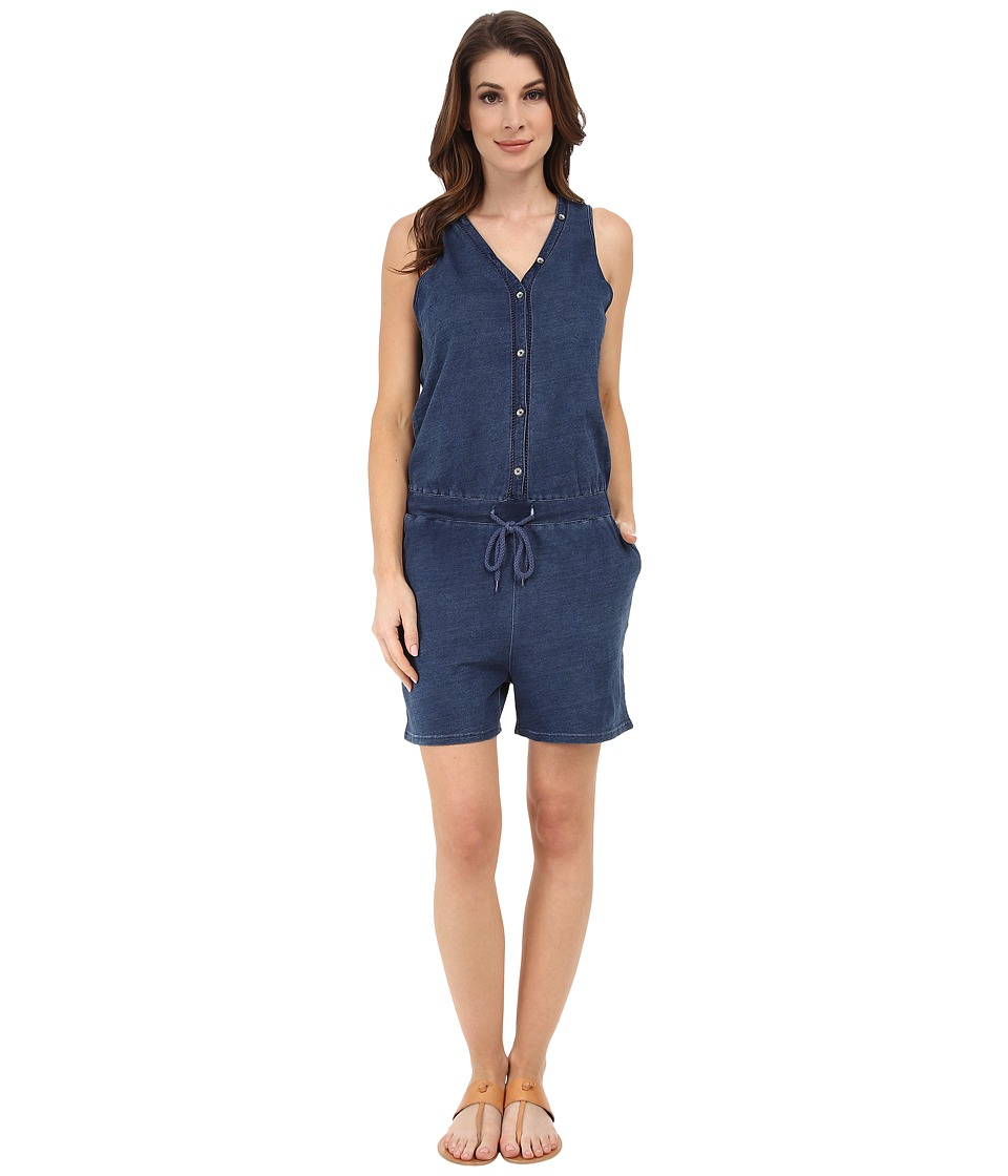 DKNY Jeans - Knit Denim Romper in Victory Wash (Victory Wash) Women's Jumpsuit & Rompers One Piece