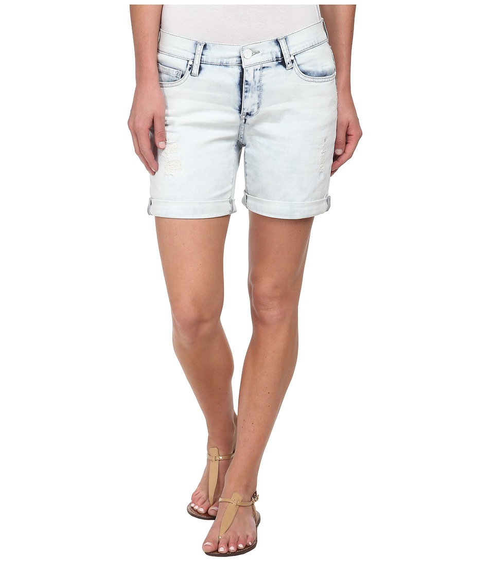 DKNY Jeans - Rip and Repair Bleecker Boyfriend Shorts in Sky Wash (Sky Wash) Women's Shorts