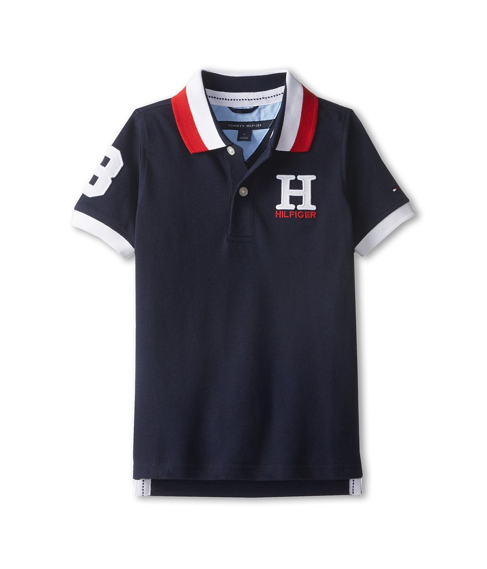 Tommy Hilfiger Kids - Short Sleeve Matt Polo (Toddler/Little Kids) (Master Navy) Boy