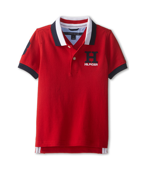 Tommy Hilfiger Kids - Short Sleeve Matt Polo (Toddler/Little Kids) (Regal Red) Boy's Short Sleeve Pullover