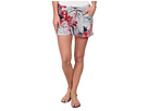 DKNY Jeans Floral Print Shorts in Light Smoke Heather Grey