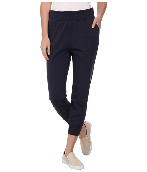 DKNY Jeans - Slub Crop Sweatpants in Mood Indigo (Mood Indigo) Women's Casual Pants